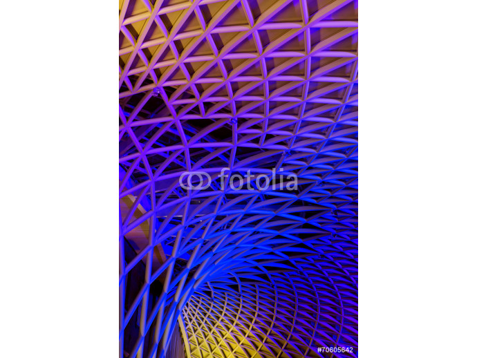 art modern metal construction of the train station in London Kin 64238