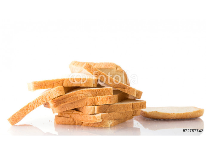 whole wheat bread on a white background 64238