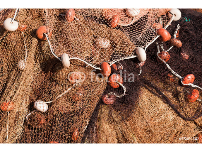 Fishing Net with Ropes and Floats 64238