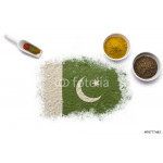 Spices forming the flag of Pakistan.(series) 64238