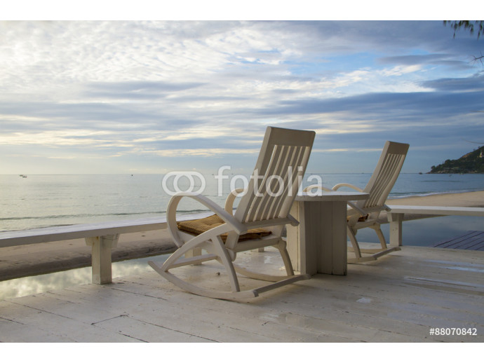 Rocking Chair at the terrace, Sunrise 64238