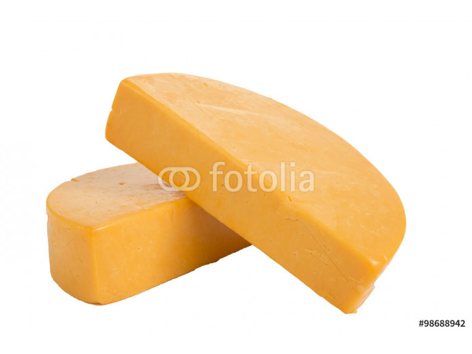Two Half Wheels of Colby Cheese 64238