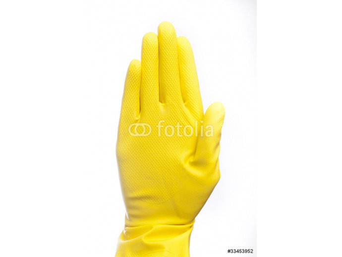 A yellow cleaning glove 64238