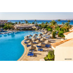 the pool, beach umbrellas and the Red Sea in Egypt 64238