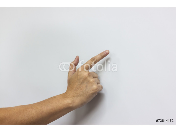 the hand with white board 64238