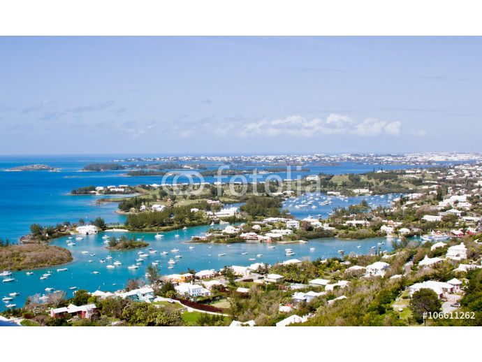 Bermuda's  panorama with boats 64238