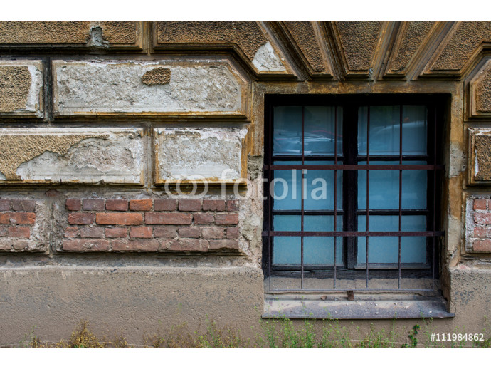 Old brick wall with a window 10 64238