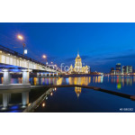 Night Moscow.  Moscow River. Hotel Ukraine. 64238