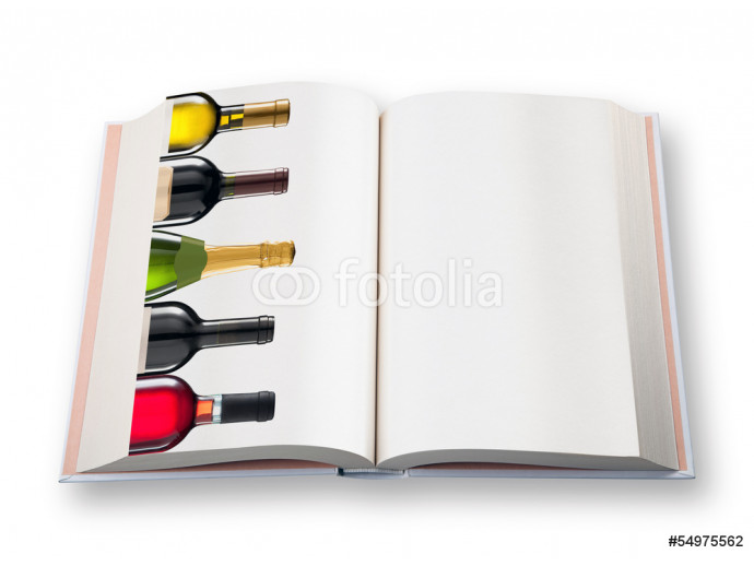 Open  book (with  five wine bottle) 64238