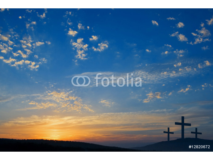 three crucifixions on the hill 64238