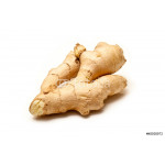 Root ginger isolated on a white background. 64238