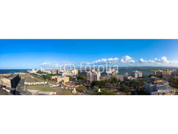 Panorama of Old town viewed from Castillo San Cristobal in Old S 64238
