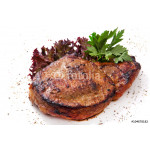 Pork steak with greens, herbs and pepper 64238