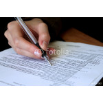 review and filling out legal contract 64238