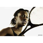 Woman with tennis racket 64238