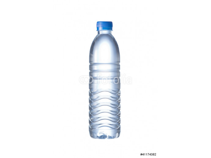 Pet Bottle of water isolated on the white background 64238