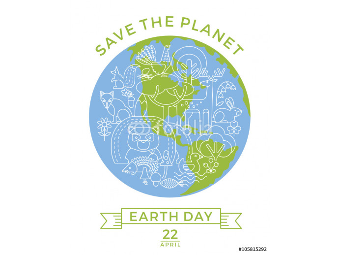 Earth Day. Conceptual design for the conservation of nature. 64238