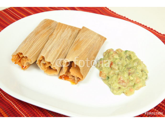 Chicken, cheese and pork tamales 64238