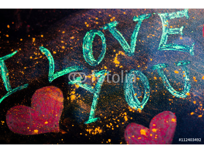 text on the blackboard I love you background 64238