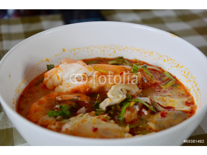 Tom yum goong seafood recipe or Thai Seafood Spicy Soup 64238