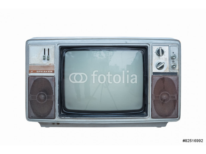 old black and white television 64238