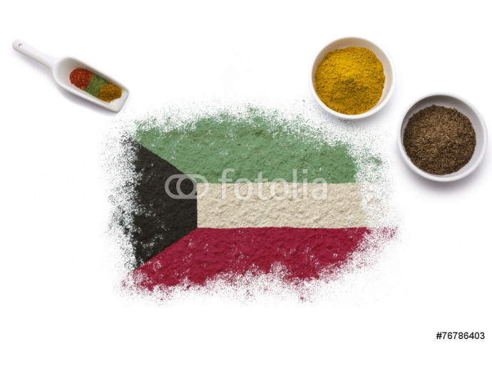 Spices forming the flag of Kuwait.(series) 64238