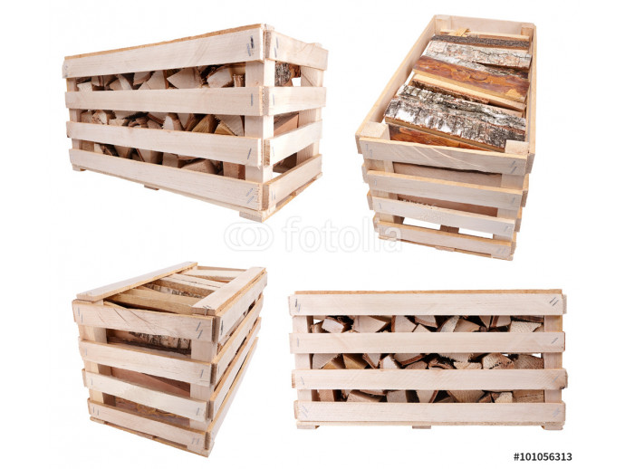 Fototapeta crate with firewood 64238
