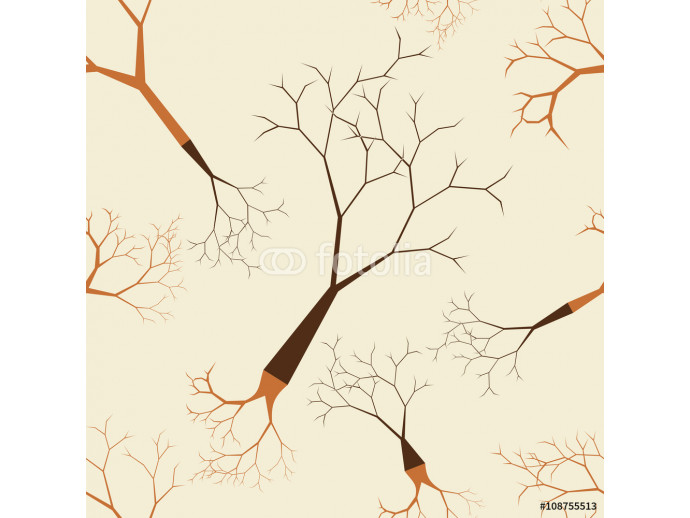 Fotomural decorativo Leafless Tree Seamless Pattern 64238