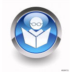 ''E-learning'' glossy icon 64238