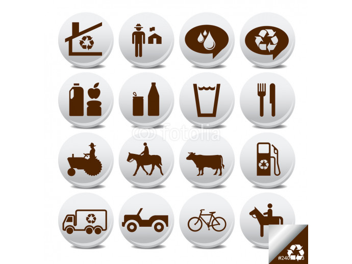 Vector icons pack- farm life 64238