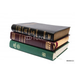 Stack of three Holy Bibles 64238
