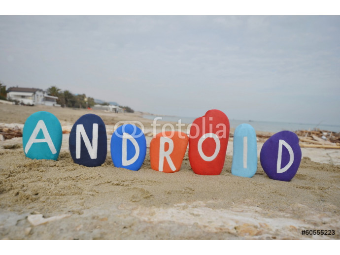 Android, operating system on colourful stones 64238