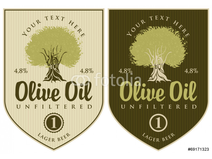 set of labels for olive oil with olive tree 64238