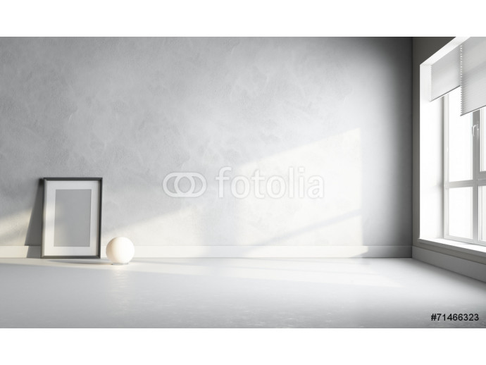 3d white room with frame 64238