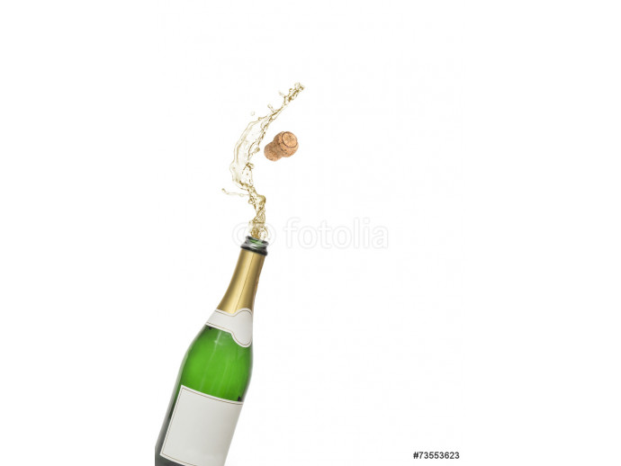 Cork popping out of champagne bottle 64238