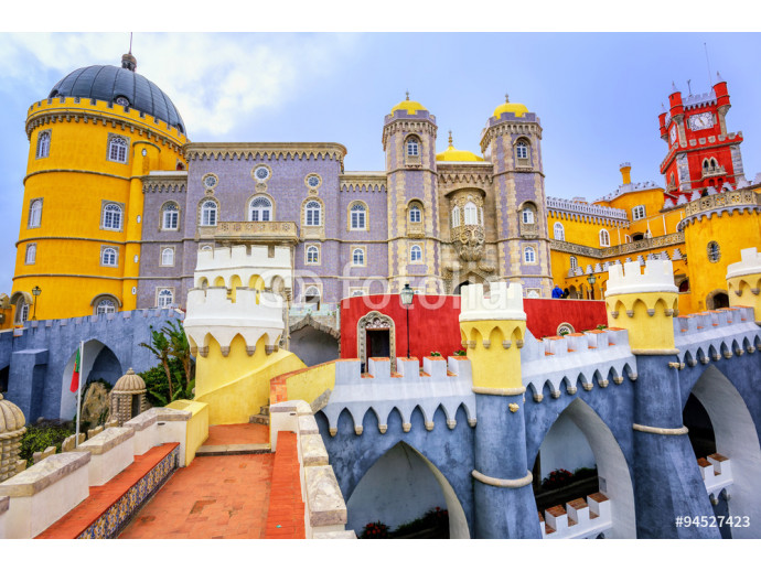 Colorful facade of Pena palace, Sintra, Portugal 64238