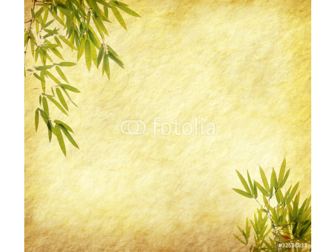 design of chinese bamboo trees with texture of handmade paper 64238