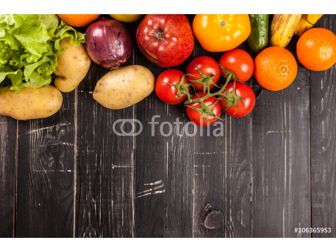 Composition with assorted raw organic vegetables 64238