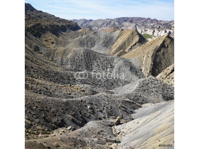 Rocky landscape in desert of Cottonwood Canyon, Utah. 64238