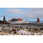 The majestic Monument Valley in winter 64238