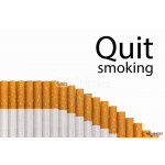 Quit smoking text graph of cigarettes 64238