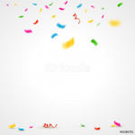 Colorful confetti background with place for text. Vector illustration 64238