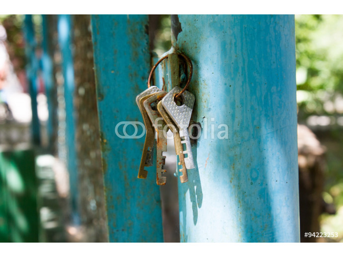 Found rusting old house keys 64238