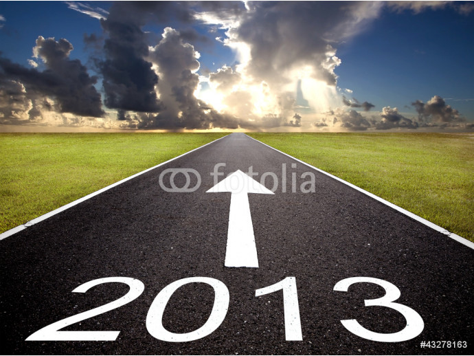 Vliestapete road to the 2013 new year and  sunrise background 64238