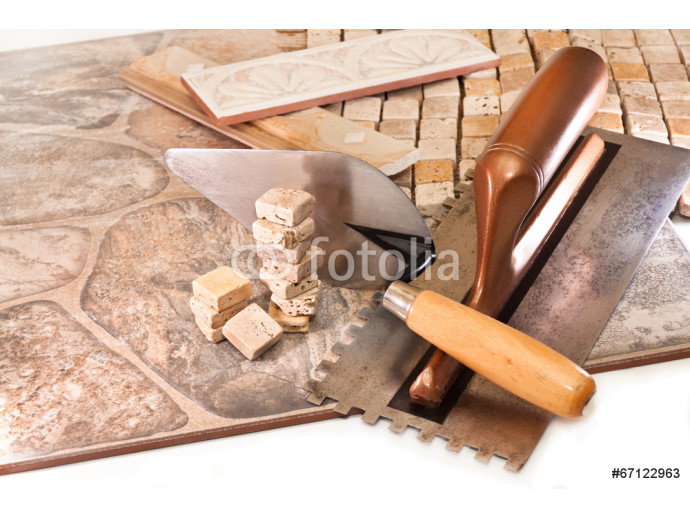 Tiling floors and walls 64238