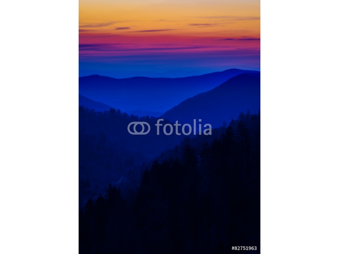 Layered Colors in the Smokies 64238