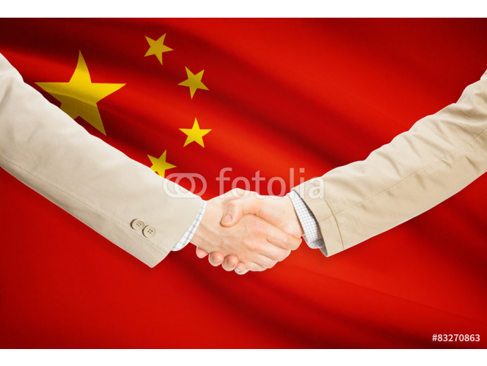 Handshake and flag - People's Republic of China 64238