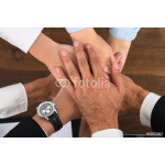 Businesspeople Hands Stacking Over Each Other 64238