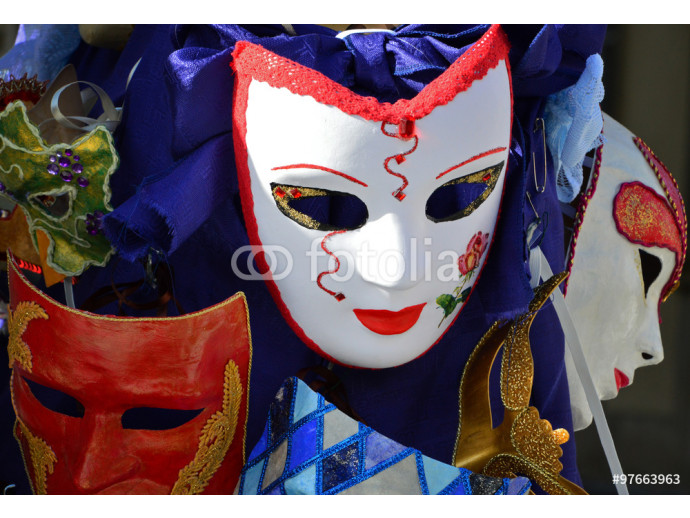 Colorful venetian masks