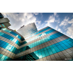 Green glass modern business with Blue sky 64238